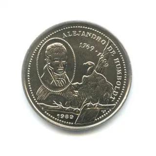 Cuba. 1989. 25 centavos. Series: Alexander von Humboldt. - #1. 1769-1989. 220th Anniversary since birth. Type: Commemorative. 6.400 g., Cu-Ni KM#361 UNC
