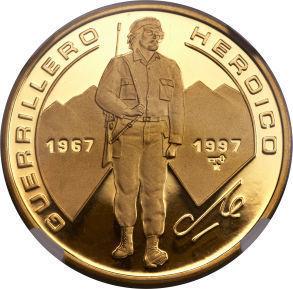 Cuba. 1997. 100 pesos. Series: Che Guevara - #16. 30th Anniversary of his Death. KM#929. Proof. 0.999 Gold. 0.9926 Oz AGW. 31.11g. PROOF Mintage: 200