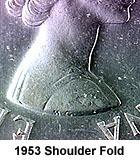 Канада. Елизавета II 1953. 25 центов. Карибу. Тип: 1953. 0.800 Серебро 0.149 Oz. ASW., 5.830 g., KM#52 - Складки на плече. AU