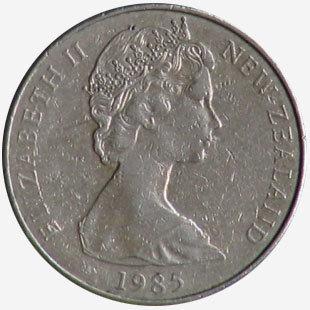 Канада. Елизавета II. 1985. 1 доллар. Каноэ. Тип: 1965. Никель 15.620 g., KM#120.2 Примечание: Мул - Новая Зеландия, 50 сентов. AU RARE