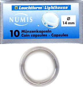 Капсулы для монет 14.00 мм. 1 * 10 шт. Lighthaus / Leuchtturm.