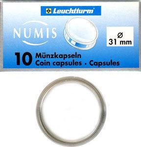 Капсулы для монет 31.00 мм. 1 * 10 шт. Lighthaus / Leuchtturm.