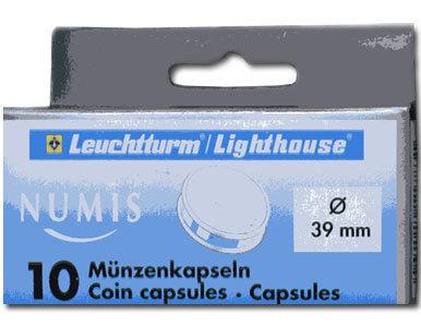 Капсулы для монет 39.00 мм. 1 * 10 шт. Lighthaus / Leuchtturm.