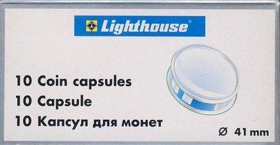 Капсулы для монет 41.00 мм. 1 * 10 шт. Lighthaus / Leuchtturm.