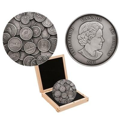Канада. Елизавета II. 2017. 250 долларов. Коллекция канадских монет. 0.9999 Серебро 35.270 Oz., ASW., 1000.00 g., PROOF PF60.