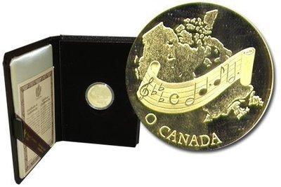 Канада. Елизавета II. 1981. 100 долларов. О, Канада!. 0.91667 Золото 0.6 Oz., AGW., 16.965 g., PROOF PF60.