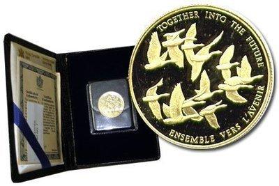 Канада. Елизавета II. 1978. 100 долларов. Канадское единство. 0.91667 Золото 0.6 Oz., AGW., 16.965 g., PROOF PF60.