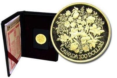 Канада. Елизавета II. 1977. 100 долларов. 25 лет. Серебряный юбилей правления Елизаветы II. 0.91667 Золото 0.6 Oz., AGW., 16.965 g., PROOF PF60.