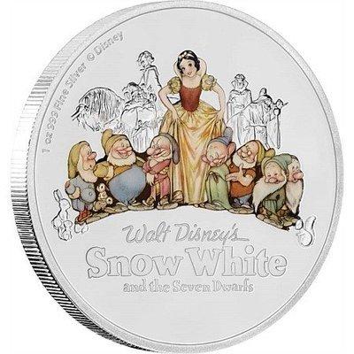 Ниуэ. Елизавета II. 2017. 2 доллара. 80 лет мультфильму Дисней