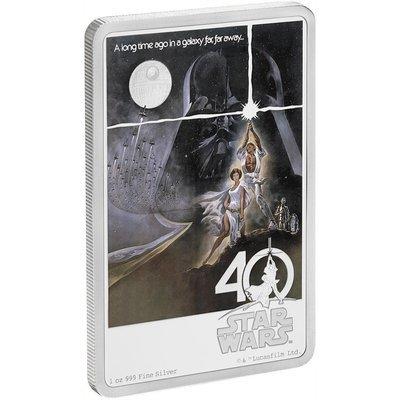 Остров Ниуэ. Елизавета II. 2017. 2 доллара. Серия: Звёздные войны™. 40 лет. 0.9999 Серебро 1.0 Oz., ASW., 31.10 g. PROOF / Colored