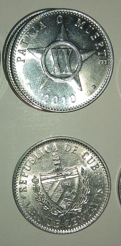 Cuba. 2010. 20 centavos CUP. Star. Type: 1915. 2.000 g., Al KM#35.1 UNC