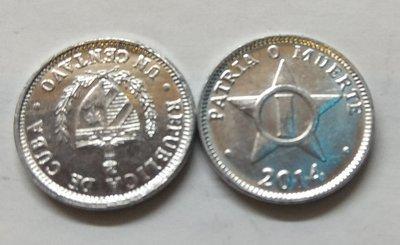 Cuba. 2014. 1 centavo CUP. Star. Type: 1915. Al. 0.750 g., KM#33.3 AU