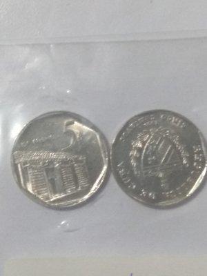 Cuba. 2002. 5 centavos CUC. Casa Colonial. Type: 1994. Nickel Plated Steel. 2.990 g., KM#575.2. AU