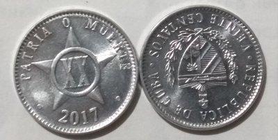 Cuba. 2017. 20 centavos CUP. Star. Type: 1915. 2.000 g., Al KM#35.1 UNC