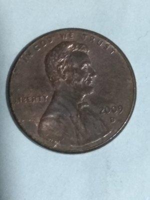 США. 2009. 1 цент. D. Линкольн. Цинк плакиван медью. 2.5 g., KM#444. XF