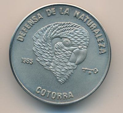 Cuba. 1985. 1 peso. Series: Defense of Nature. - #3. Cuban amazon parrot. Cu-Ni. 11.30 g. BU. KM#128. UNC