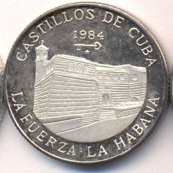 Cuba. 1984. 5 pesos. Series: Castle of Cuba - # 2. La Fuerza. La Habana. 0.999 Silver. 0.3229 Oz ASW. 12.0g. KM#143. PROOF. Mintage: 1,000