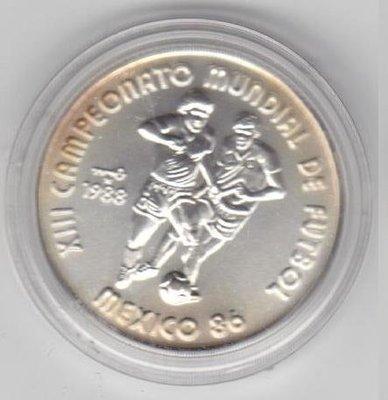 Cuba. 1988. 5 pesos. Series: 13th Soccer World Cup. Mexico '86. - #2. 0.999 Silver. 0.3829 Oz ASW. 12.0g. BU. KM#185. UNC