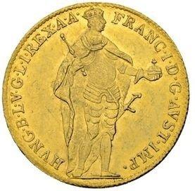 Королевство Венгрия. Франц II. 1835. 1 дукат. 0.986 Золото. 0.11065 Oz., AGW 3.49 g., KM#419. AU.