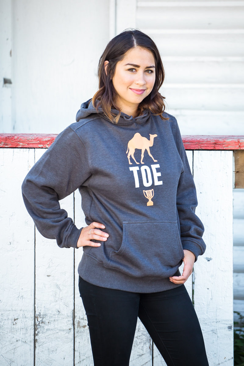 The Camel Toe Cup Grey Hoodie