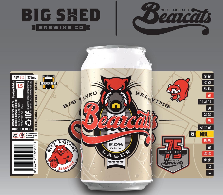 Bearcats 75th Anniversary Beer (carton of 24 cans)