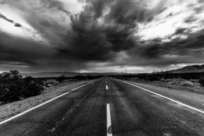 Stormy Desert Road