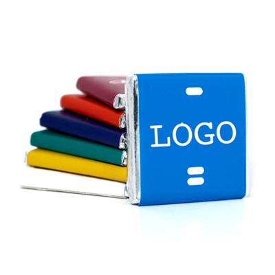 Quadratische Firmen-Schokolade 5g mit Logo-Etikette (100 Stück)