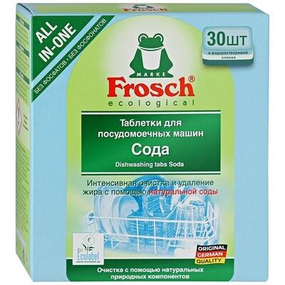 Таблетки для посудомоечных машин Frosch (Фрош) Сода 30шт