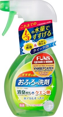 Спрей чистящий для ванной комнаты DAIICHI FUNS с ароматом свежей зелени 380мл