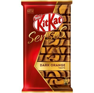 Шоколад KitKat Senses DARK ORANGE TASTE молочный и темный с хрустящей вафлей 112гр