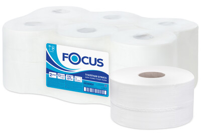 Туалетная бумага FOCUS (Фокус) Mini Jumbo 2х слойная 170 метров