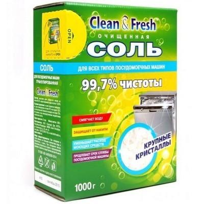 Очищенная соль для посудомоечных машин Clean & Fresh 1кг