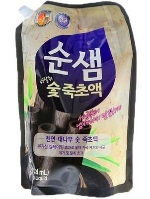 Средство для мытья посуды сменный блок Kerasys (Керасис) Soonsaem Бамбуковый уголь 1,2кг