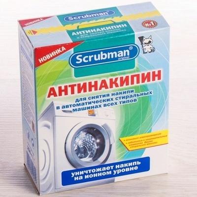 Очиститель накипи для стиральных машин Scrubman (Скрабмэн) Антинакипин 250гр