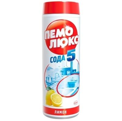 Универсальный чистящий порошок Пемолюкс Сода 5 Лимон 480гр