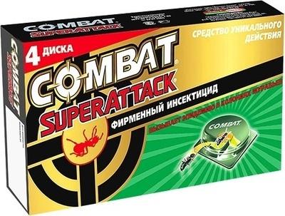Ловушки для муравьев COMBAT (Комбат) Super Attack 4 диска