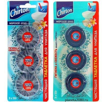 Чистящие таблетки для унитаза Chirton (Чиртон) Морской бриз 3шт по 50гр (3х50гр)