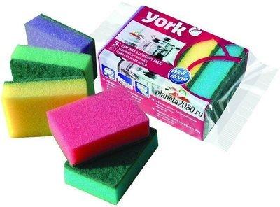 Набор губок для мытья посуды York Maxi (Йорк Макси) 5шт