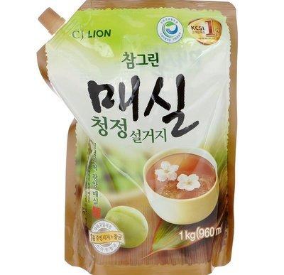 Средство для мытья посуды, овощей, фруктов запаска CJ LION Chamgreen Японский абрикос 1кг (960мл)