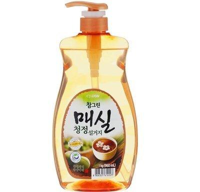Средство для мытья посуды, овощей, фруктов CJ LION Chamgreen Японский абрикос 1кг (960мл)