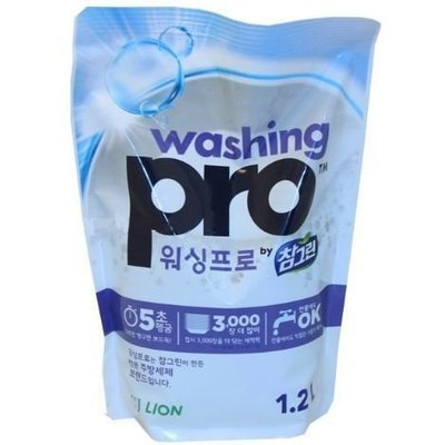 Средство для мытья посуды, овощей, фруктов запаска CJ LION Chamgreen Washing Pro 1,2л (1200мл)
