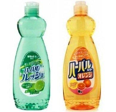 Средство для мытья посуды, овощей, фруктов Mitsuei с ароматом Лайма или Апельсина 600мл