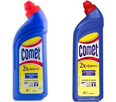 Универсальный чистящий гель Comet (Комет) 2х эффект Лимон 500мл или 1л