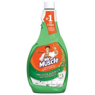 Средство для стекол сменная бутылка Mr. Muscle (Мистер Мускул) Профессионал Утренняя роса 500мл