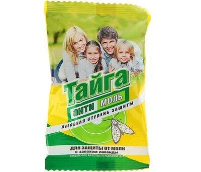 Средство репеллентное для защиты от моли Тайга Антимоль с запахом лаванды 1шт