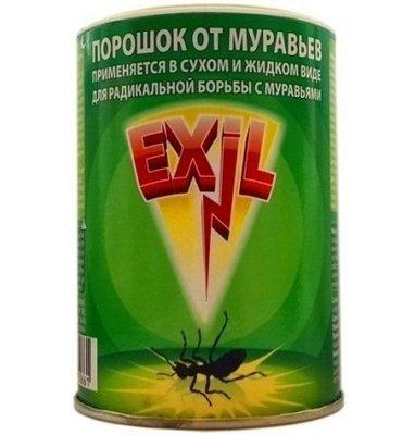 Порошок Exil (Эксил) от муравьев и других насекомых 100гр