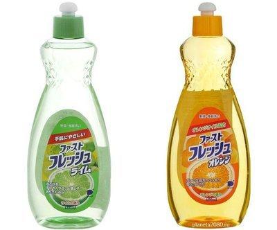 Средство для мытья посуды, овощей, фруктов DAIICHI с ароматом Лайма или Апельсина 600мл