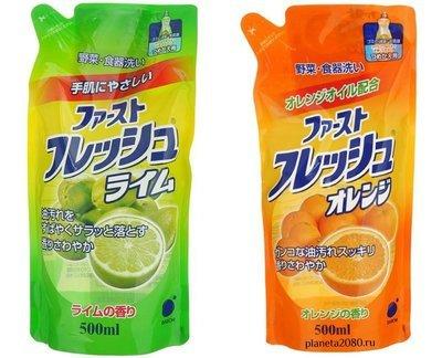 Средство для мытья посуды, овощей, фруктов сменный блок DAIICHI с ароматом Лайма или Апельсина 500мл