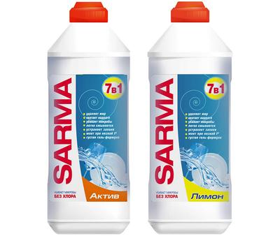 Средство для мытья посуды 7в1 Сарма Актив или Лимон 500мл