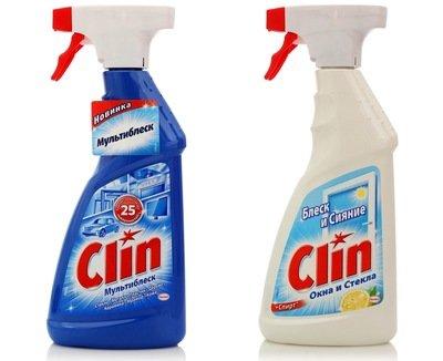Средство для мытья окон и стекол Clin (Клин) Мультиблеск или Лимон 500мл